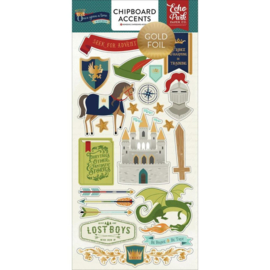 Once Upon a Time Chipboard Stickers - Echo Park