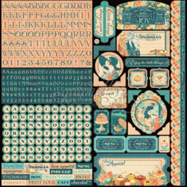 Cafe Parisian Stickers ABC