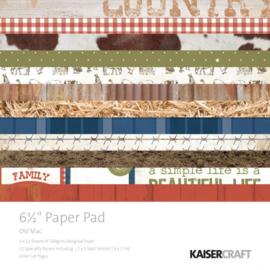 "Old Mac Paper Pad 6 1/2"" - KaiserCrafts"