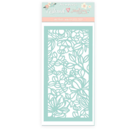 Celebration Flower and Leaves Stencil - Stamperia