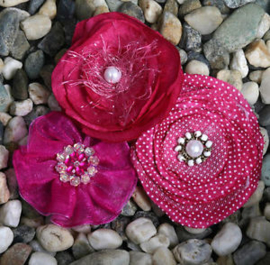 Fabric Flowers Fuschia Petaloo