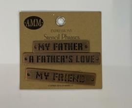 Father Stencil Phrases - AMM