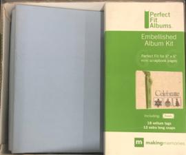 "6"" x 6"" Perfect Fit Mini Album Rain - Making memories"