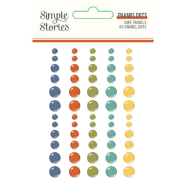 Safe Travels Enamel Dots - Simple Stories