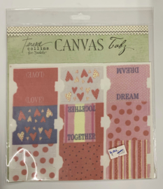 Love Line Canvas Tabs by Teresa Collins - Junkitz