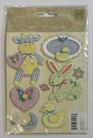 Cuddly Friends Layered Stickers - K & Company