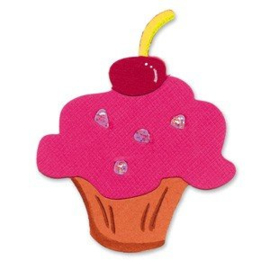 Sizzlits Cupcake #3 - Sizzix