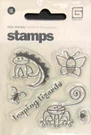 Leaping Lizards Clear Stamps