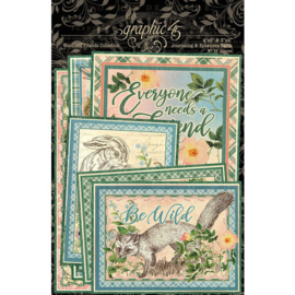 Woodland Friends Journaling & Ephemera Cards - Graphic 45