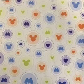Mickey Circles embossed 12x12 - EK Succes