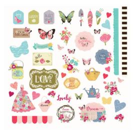 Julie Nutting Butterfly Bliss Ephemera - Prima Marketing