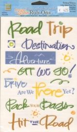 Wonderful Words Rub-Ons Color Splash Road Trip Deja Views