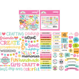 Cute & Crafty Chit Chat Die Cut Pieces - Doodlebug
