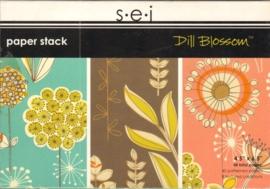 """Dill Blossom Paper Stack 4,5"""" x 6,5"""" S.E.I."""