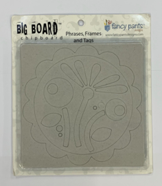 Phrases, Frames and Tags Chipboard - Fancy Pants