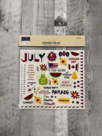 Calendar Rub-ons July - Karen Foster