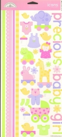 Bitty Baby Girl Icons Cardstock Stickers