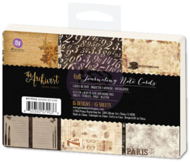 The Archivist Journaling Note Cards 4x6 Prima