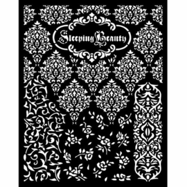 Sleeping Beauty Textures Stencil - Stamperia