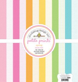 12x12 Petite Prints Spring Swiss Dots - Doodlebug