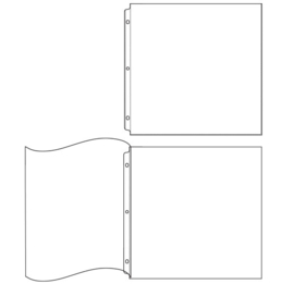 Albums Made Easy Page Protectors 5 - 12x12 / 5 - 12x12 flush bound