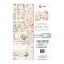 With Love Paper Pad A4 - Prima Marketing