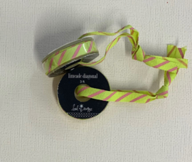 Limeade Diagonal Ribbon 3ft - Heidi Swapp