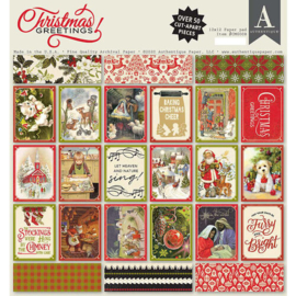 Christmas Greetings Paper Pad 12x12 -  Authentique