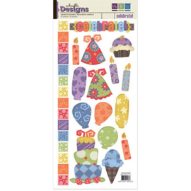 Celebrate Cardstock Stickers