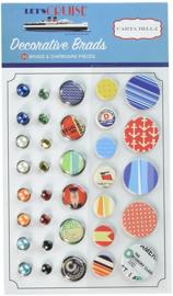 Let's Cruise Decorative Brads & Chipboard Pieces - Carta Bella
