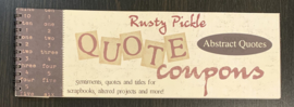 Quote Coupons Abstract Quotes - Rusty Pickle