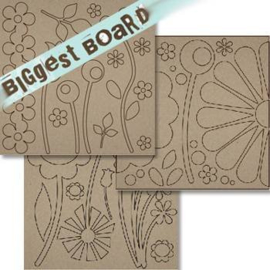 Chipboard Die-cuts Wild Flowers 12x12