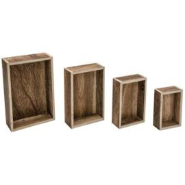 Vignette Boxes (4 Boxes) - Tim Holtz Idea-ology