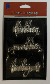 Magnetic Words Father, Mother, Baby - Provo Craft