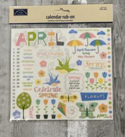 Calendar Rub-ons April - Karen Foster
