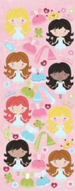 46 Chipboard Stickers Dress-a-Princess