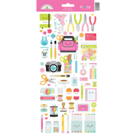 Cute & Crafty Icon Cardstock Stickers - Doodlebug