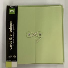 Celery Solid Cards & Envelops - Making Memories