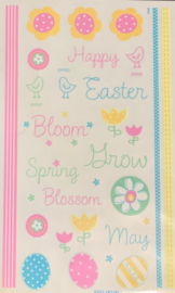 Happy Easter Rub-ons - Paper Salon