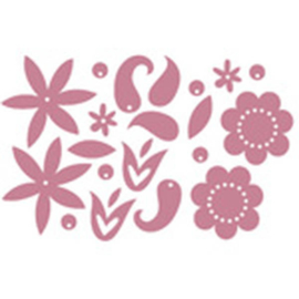 Chipboard Shapes Metallic Flowers Pink 20 pieces - Heidi Swapp