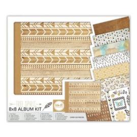 Album Kit 8x8 Post Bound Indian Rose/Free Spirit  We R Memory Keepers