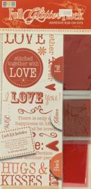 Foil Glitter Flock Love Kit - We R Memory Keepers