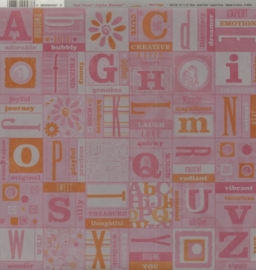 Alpha Blocks Pink/Orange Vellum