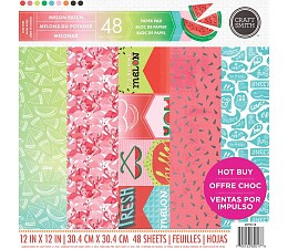 Melon Patch 12x12 Paper Pad 48 sheets Craft Smith