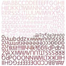 Socket Alphabet Stickers - Eva Collection Basic Grey