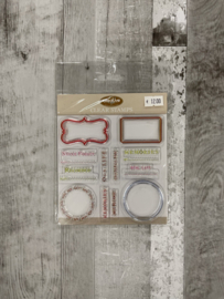 Creative Cafe Mix & Match Labels Clear Stamps - Creative Imaginations