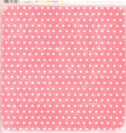 Pink Dots Delightful Collection - Little Yellow Bicycle