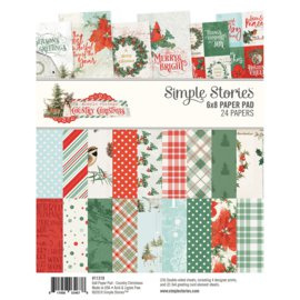 Country Christmas Paper Pad 6x8 - Simple Stories