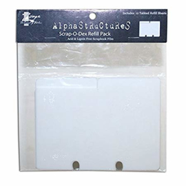 Scrap-O-Dex Refill Pack 12 Tabbed Refill Sheets - Zsiage