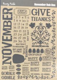 November Rub Ons - Rusty Pickle